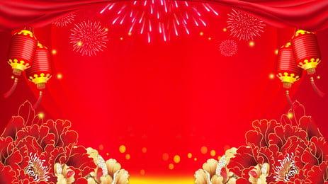 red peony fireworks appreciation background, Red, Peony Flower, Fireworks Background image
