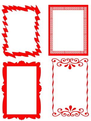 紅色相框邊框背景素材 , 紅色, 邊框, 底紋背景 背景圖片