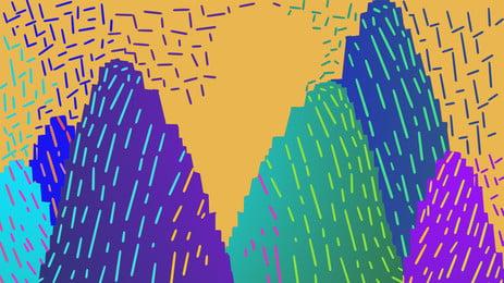 Retro pixelated thiết kế nền lá đầy màu sắc Pixelated Lá Màu Hình Nền