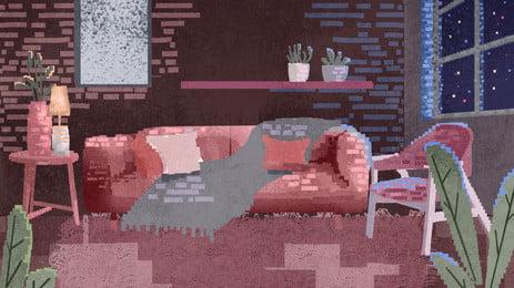 Vintage pixel hóa nền thiết kế ghế khách đêm Psd Nền Điểm Hình Nền