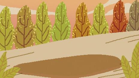 Retro gỗ đường dẫn minh họa nền thiết kế pixelated Tám Mươi Retro Hình Nền