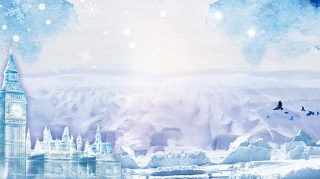 Romantic Beautiful Snow 背景画像