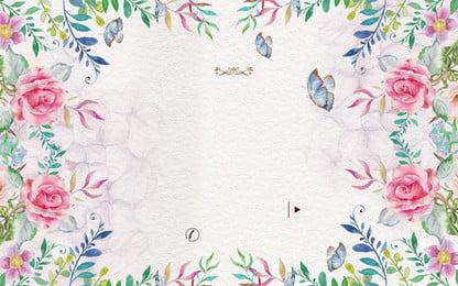 रोमांटिक तितली फूल विज्ञापन पृष्ठभूमि, विज्ञापन की पृष्ठभूमि, तितली, रोमांटिक पृष्ठभूमि छवि
