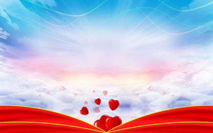 romantic chinese valentines day sky clouds love background design, Romantic, Beautiful Background, Tanabata Background Background image