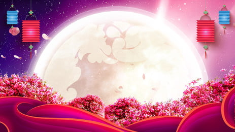 romantic cozy couple moon panel background, Creative, Valentines Day Background, Tanabata Background image