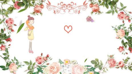 रोमांटिक फूल लड़की विज्ञापन पृष्ठभूमि, विज्ञापन की पृष्ठभूमि, ताज़ा, किशोर लड़की पृष्ठभूमि छवि