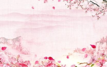 latar belakang pengiklanan hutan merah jambu romantis, Latar Belakang Pengiklanan, Romantik, Merah Jambu imej latar belakang