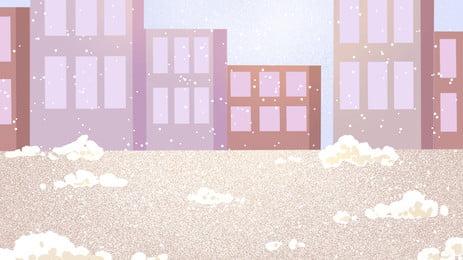 浪漫雪花廣告背景, 廣告背景, 清新, 雪花 背景圖片
