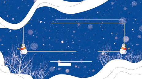 浪漫雪花樹枝廣告背景, 廣告背景, 浪漫, 藍色背景 背景圖片