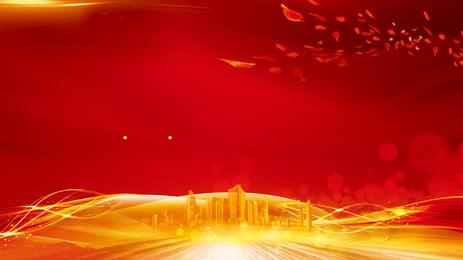 वरिष्ठ स्वर्ण भवन विज्ञापन पृष्ठभूमि, विज्ञापन की पृष्ठभूमि, पत्ती, लाल पृष्ठभूमि पृष्ठभूमि छवि