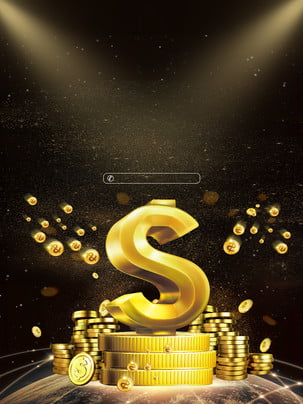 shining golden coins advertising background , Advertising Background, Dark Background, Gold Background image