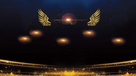 Shining ánh sáng vàng cánh cánh nền quảng cáo Nền quảng cáo Nền Shining ánh Sáng Hình Nền