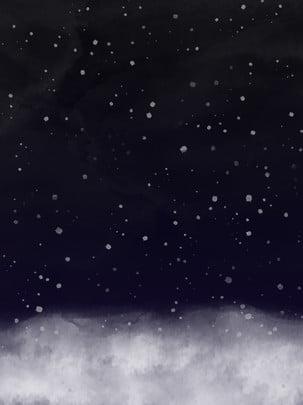 Nền màu nước đơn giản và đẹp trong cảnh tuyết mùa đông Cảnh Tuyết Mùa Hình Nền