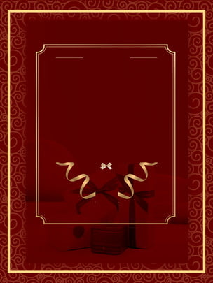 簡約大氣絲帶邀請函紅色背景素材 , 簡約, 大氣, 絲帶 背景圖片