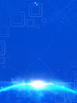 Simple Blue Glowing Smart Technology Background Information,information Technology,data Material,artificial, Intelligence, Blue, Background, Background image