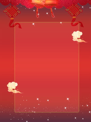 simple chinese style stage big red knot beautiful business background , Big Red, Chinese Style, Chinese Knot Background image