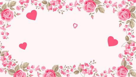 thiết kế nền hoa hồng đơn giản, Lãng Mạn, Nền Tối Giản, Màu Hồng Ảnh nền