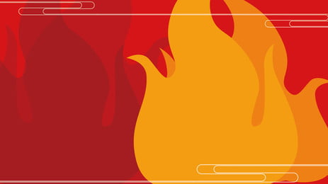 simple red fire 2019 new year background design, Red Fire, Red Background, Background Material Background image