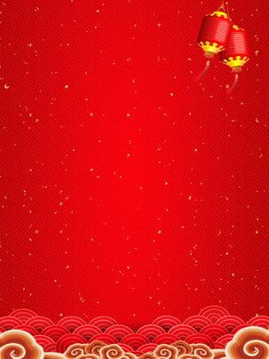 간단한 빨간색 새해 배경 디자인 축제,돼지 년 배경,새해 ,템플릿,빨간색,배경 배경 이미지