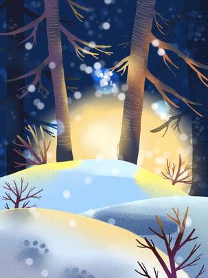 Đơn giản vật liệu năng lượng mặt trời mùa đông bông tuyết đêm Đơn Giản Thuật Hình Nền