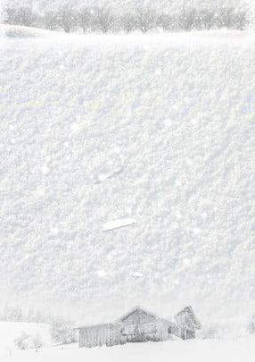 Chất liệu nền tuyết trắng mùa đông đơn giản Đơn Giản Nền Hình Nền