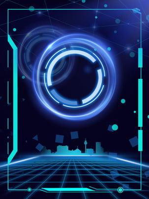 smart technology city border background , Business, Technology, Intelligent Background image