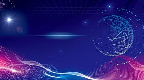 स्मार्ट प्रौद्योगिकी ढाल लाइन पृष्ठभूमि सामग्री, क्रमिक परिवर्तन, लाइन, लाइन बॉल पृष्ठभूमि छवि