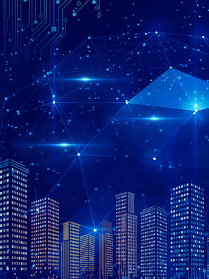 smart technology starry city background , Starry Sky, Blue Background, City Background image