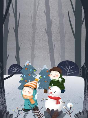 lễ hội tuyết người nền , Rừng, Tuyết Rơi Dày, Thuật Ngữ Mặt Trời Ảnh nền