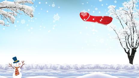 snow landscape advertising background, Advertising Background, Snowflake, Snow Scene Background image