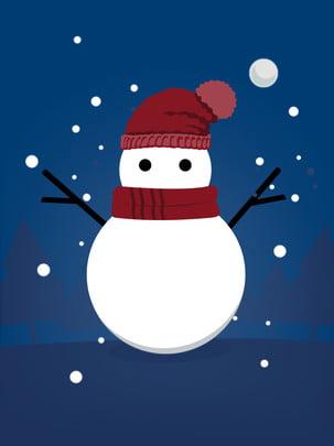 تساقط الثلج، عيد ميِد، الانسان من ثلج، الخلفية ، إلى، night , ثلج, عيد الميلاد, خلفية صور الخلفية