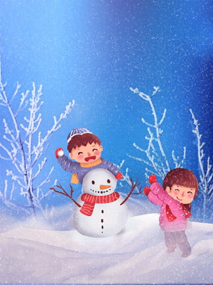 snowman snowball fight snowy background in winter , Winter Snowing Background, Make A Snowman, Snowball Background Background image