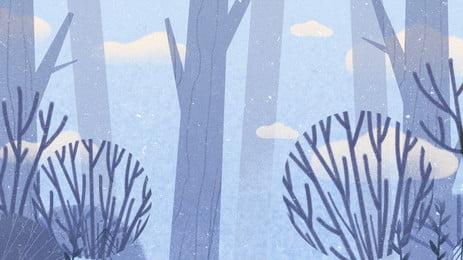 सरल सर्दियों की लकड़ी में बर्फीली पृष्ठभूमि सामग्री, सरल, सर्दियों की पृष्ठभूमि, लकड़ी पृष्ठभूमि छवि