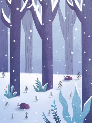 snowy snow trees background design , A Nevar, Floco De Neve, Neve Pesada Imagem de fundo