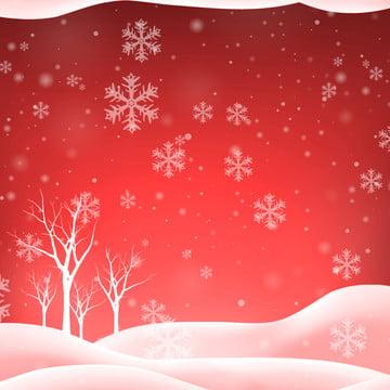 눈 덮인 설날 빨간색 축제 새해 배경 템플릿 , 빨간색, 새해, 축제 배경 이미지