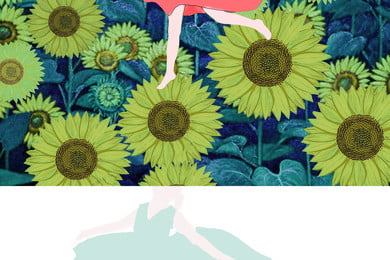 春天的向日葵電影宣傳廣告背景, 電影, 向日葵, 春天的向日葵 背景圖片