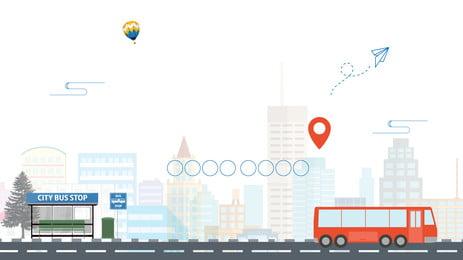 bahan latar belakang pengiklanan bas jalan raya, Latar Belakang Pengiklanan, Jalan, Menyelaras imej latar belakang
