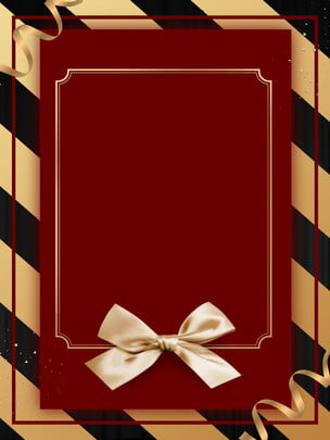 stylish red bow invitation background design , Bow, Black Gold Background, Background Background image