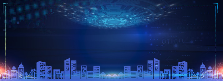 टेक नीली पृष्ठभूमि, विज्ञान और प्रौद्योगिकी, ऊंची इमारत, शहर पृष्ठभूमि छवि
