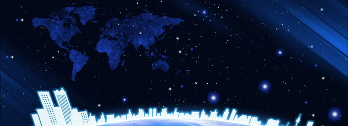 Tech Starry City Silhouette Sky,gradient,background, Tech Starry City Silhouette, Sky, Gradient, Background image