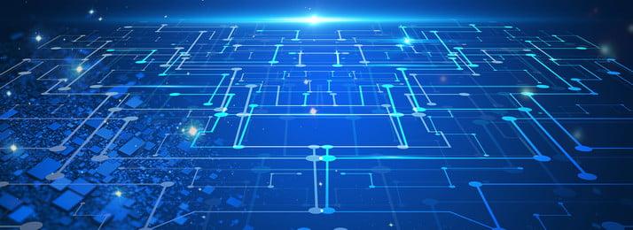 प्रौद्योगिकी प्रकाश भावना बुद्धिमान युग ब्लू पृष्ठभूमि, डेटा, व्यापार, नीला पृष्ठभूमि छवि