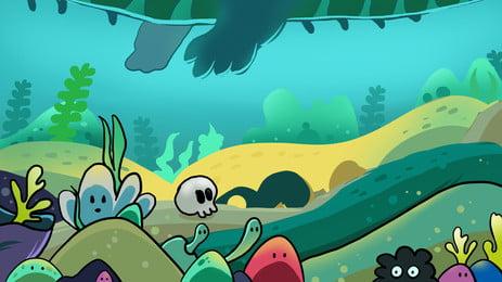 Fondo de dibujos animados marea fondo de ilustración de graffiti mar Mundo submarino Marea Dibujos animados El Mundo Animados El Imagen De Fondo