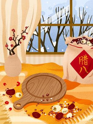Lễ hội truyền thống ngày mồng tám tháng Chạp ngày mồng tám tháng chạp cháo ngon nền thiết kế Ngũ Cốc Quảng Hình Nền