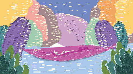Vintage pixel hóa cây thiết kế nền Psd Nền Điểm Hình Nền