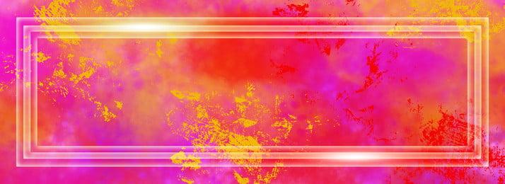 暖かい色のしぶき効果の背景, 暖かい色, 色, 顔料 背景画像