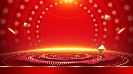 गर्म लाल मंच विज्ञापन पृष्ठभूमि, विज्ञापन की पृष्ठभूमि, अखाड़ा, गरम पृष्ठभूमि छवि