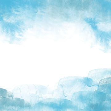 watercolor blue gradient master illustration background , Through Train, Background Material, Gradient Background image