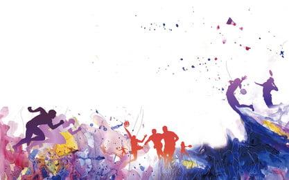 수채화 물감 브러시 스트로크 잉크 롯트 문자 배경, 손으로 그린, 수채화 물감, 뇌졸중 배경 이미지