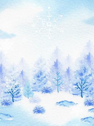 một luồng gió mùa đông giáng sinh nền màu nước bằng tay , Nền Tuyết, Mùa đông, Nền Ảnh nền