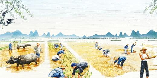 màu nước nông dân thu hoạch lễ hội lúa mì nền minh họa, Màu Nước, Sơn Nền, Lễ Hội Thu Hoạch Nông Dân Ảnh nền